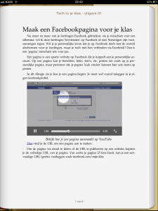 Speel video af in ebook