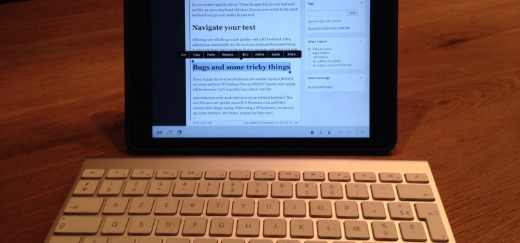Quick tips for using a paired keyboard with iPad